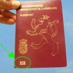 Biometric passport, also known as an e-passport or digital passport are recognizable by the following sign